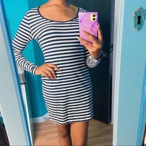 H&M Casual Striped Bodycon Dress  size M